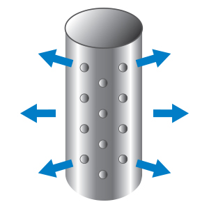 Efficient Inlet water diffuser vertical horizontal direction