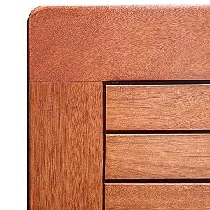 Amazon Com Vifah V1381 Outdoor Wood Folding Bistro Set