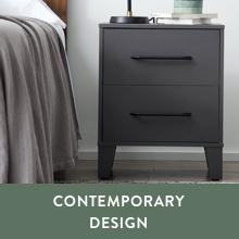 contemporary design modern design sleek night stand sleek end table rectangle