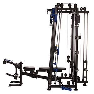 Multiprensa Maxxus 10.1 Duplex estación de fuerza, banco de pesas, dominadas, remo, press de banca hasta 300 kg, con barra almacenada