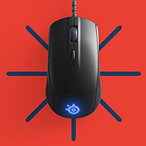 SteelSeries Rival 110, Optical Gaming Mouse, RGB Illumination, 6 Buttons
