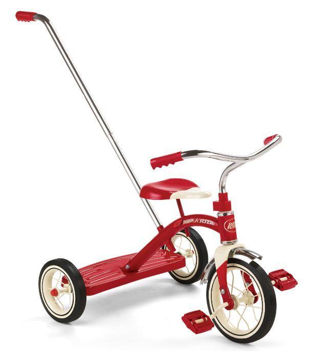 Amazon Com Radio Flyer Classic Tricycle With Push Handle