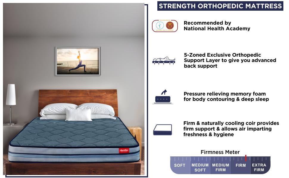 Duroflex Strength Duropedic Orthopedic Mattress SPN-FOR1P