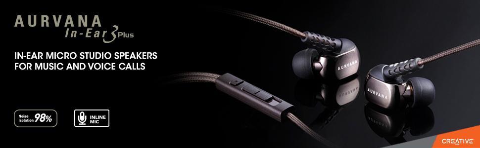 Creative Aurvana In-Ear3 Plus Auricolari In-Ear con Microfono ... 543e2f008eb9