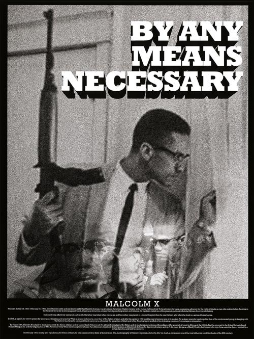 Amazon Tri Seven Entertainment Malcolm X Poster By Any Means