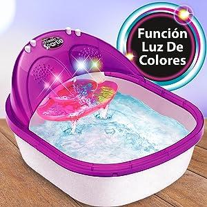 spa Sparkle, juguete con luz, pedicura juguete, stickers, pegativas, juguete a