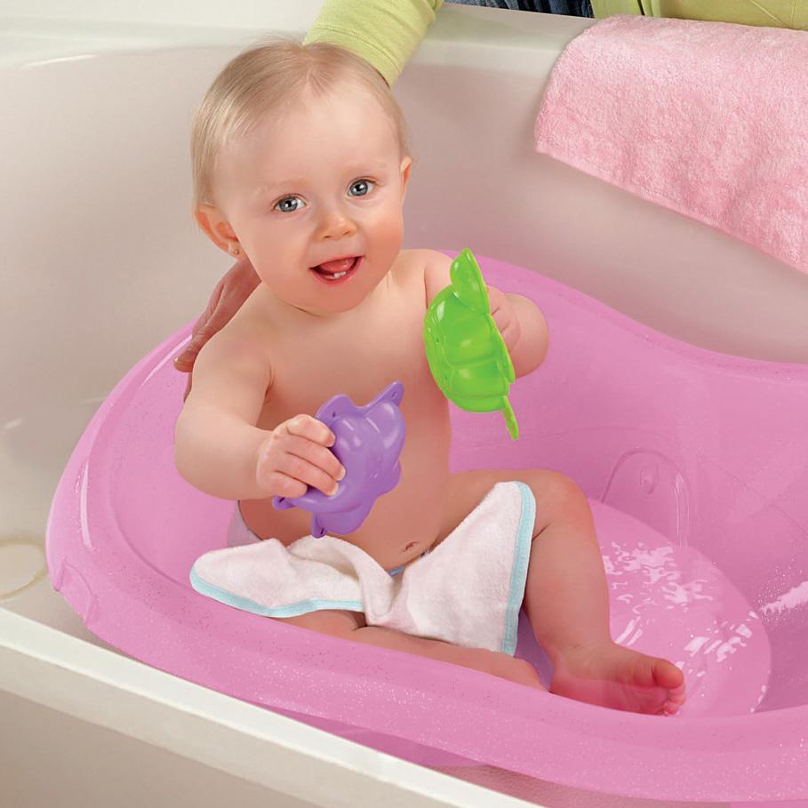 Amazon.com : Fisher-Price Pink Sparkles Tub, One Size : Baby Bathing ...