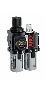ARO Ingersoll Rand ARO-FLO FRL Filter, Regulator, Lubricator Combination Unit