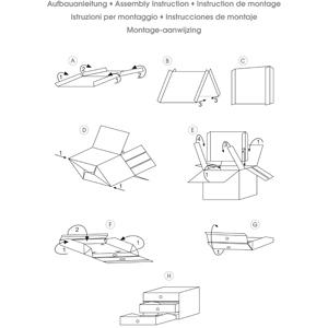 CHARLY drawer box, assembly instruction