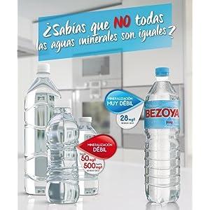 Bezoya - Agua Mineral Natural - Pack 6 x 1.5 L: Amazon.es: Alimentación y bebidas