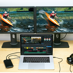 4k Monitor, Dual HD Docking Station,