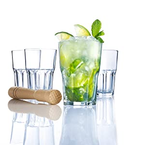 Luminarc L3936 6 vasos Mojito 40 cl-Cocktail Bar, transparente