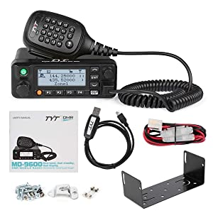 TYT MD-9600 Dual Band Digital DMR Mobile Car Truck Transceiver, VHF/UHF  3000 Channels,10000 Contacts, 250 Zones, 50W VHF/45W UHF/25W Amateur Ham  Radio
