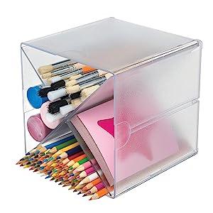 deflecto stackable cube organizers cross divider, desk organizer, deflecto stackable