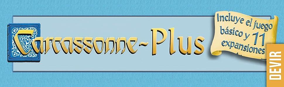 Devir BGCARPLUS3 - Carcasonne Plus, juego básico + 11 expansiones, edad recomandada 7 años y más: Amazon.es: Juguetes y juegos