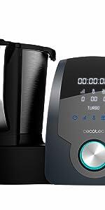 Cecotec Robot de Cocina Multifunción Mambo 9090. Jarra Habana con Revestimiento Cerámico, 30 Funciones, Báscula Incorporada, Jarra de Acero Inoxidable de 3,3 Litros Apta para Lavavajillas: Amazon.es: Hogar