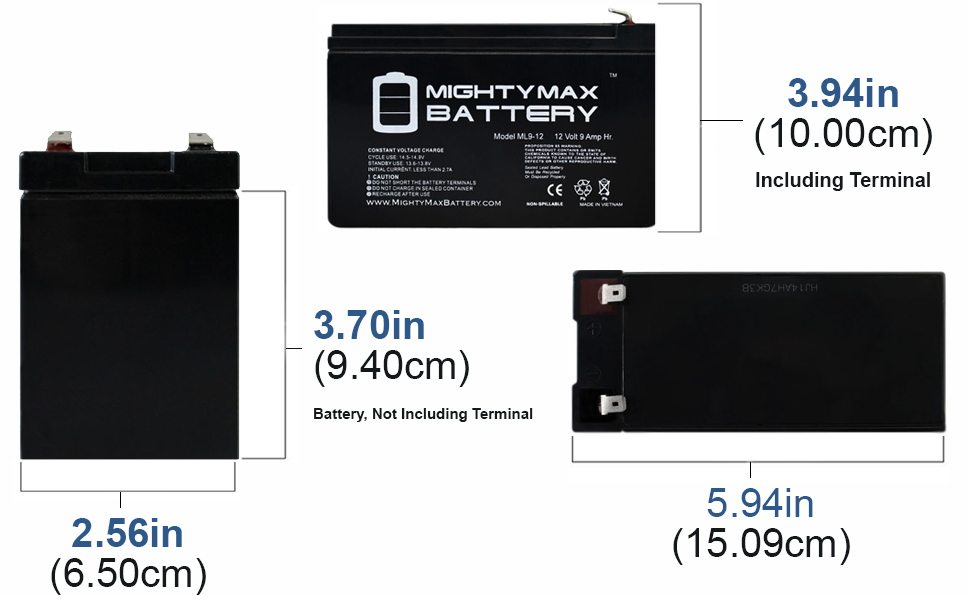 Mighty Max Battery 12V 9Ah SLA Battery Replacement for Minuteman CPE2000-4 Pack Brand Product