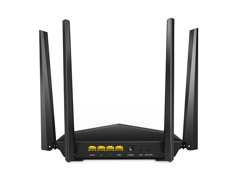 Tenda AC6 Router Inalámbrico Inteligente de Doble Banda (AC1200, 4 Puertos Megabit, WiFi Inteligente, Ahorro de Energía, 4x 5dBi HG Antenas)