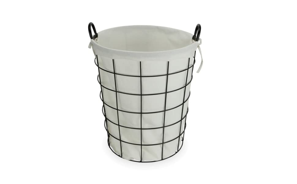 Cheungs 16S004 Lined Metal Wire Basket with Handles Black