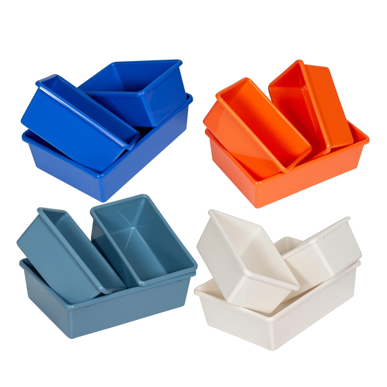 honey can do srt 01603 kids toy organizer and storage bins white pastel kitchen. Black Bedroom Furniture Sets. Home Design Ideas