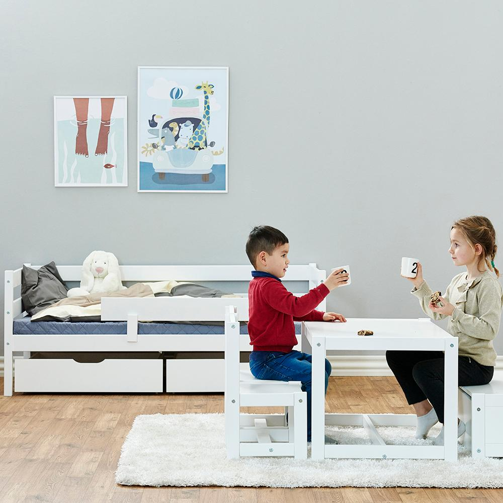 Hoppekids marie bett 30 0006 32 07m junior kinder for Kinderzimmer nordisch