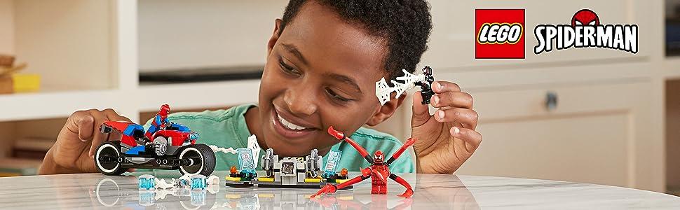 Spider-man, LEGO, hero, toys