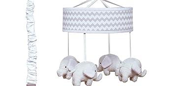 musical mobile, crib mobile, baby mobile, elephant mobile, crib bedding, nursery
