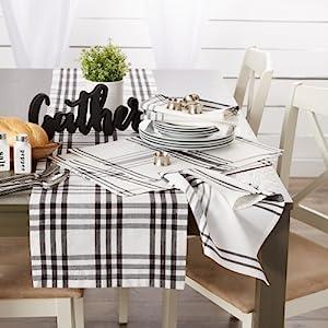 farmhouse table,rustic decor,table runner,tablerunner,gingham,buffalo check,plaid,gingham table