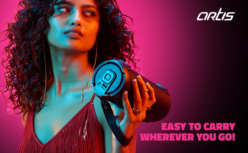 Artis BT77 Wireless Bluetooth Speaker with Fabric Mesh Grille