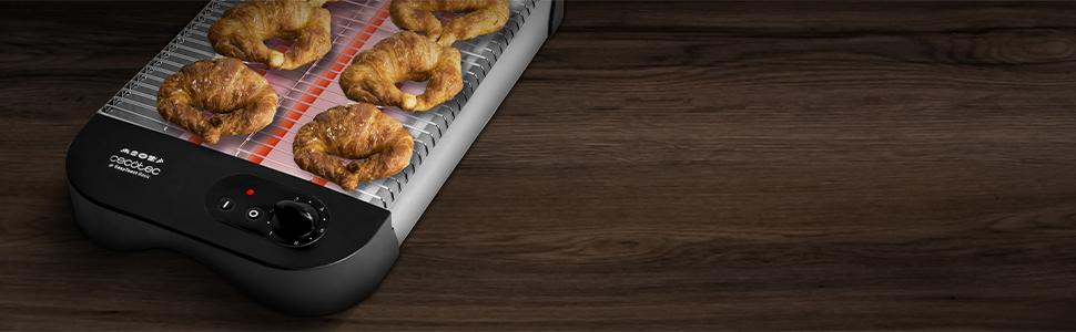 tostador plano; tostadora de pan; tostador horizontal