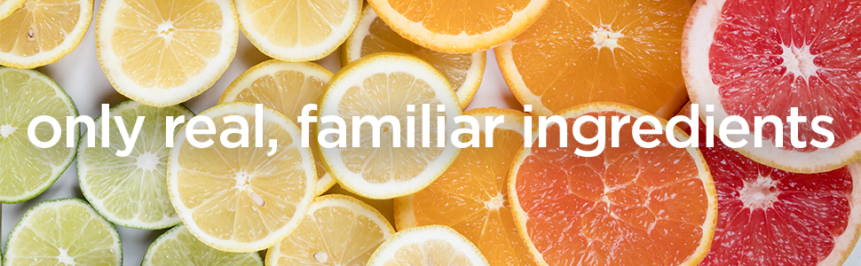 just sparkling water & real squeezed fruit. yup, that's it.