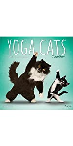 Yoga Cats Together 2019 3.5 x 6.5 Inch Two Year Monthly ...