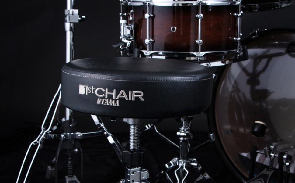 Tama HT230 Rundsitz Schlagzeug-Hocker 1st Chair keepdrum Drumsticks
