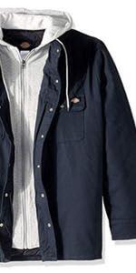 shirt jacket, lined jacket, hooded jacket, work jacket, carhartt, Wrangler, Levis, Volcom, 511
