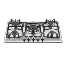 30 in. Gas Stove Cooktop with 5 3rd Gen Italy Sabaf Sealed Burners in Stainless Steel