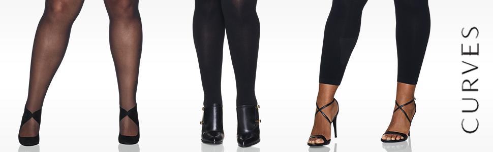 Hanes womens Hanes Curves Silky Sheer Legwear Hosiery