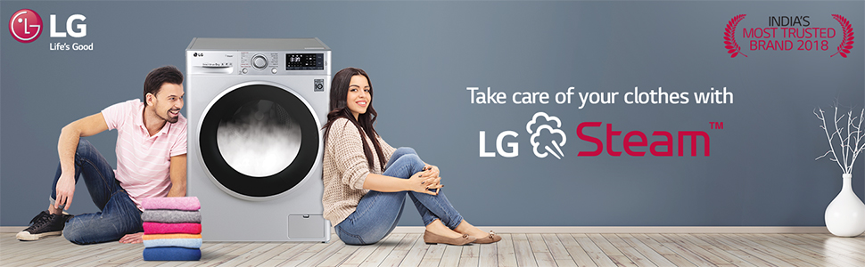 LG Steam front load washing machine