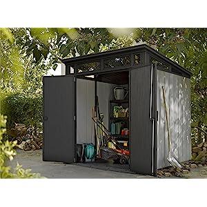 Keter Gerätehaus Artisan 7x7, Grau, 8,3m³: Amazon.de: Garten