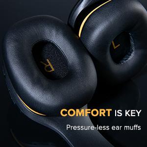 ear muffs, comfortable, pressure-less