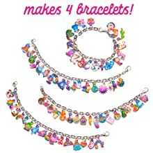 jewelry craft kit for kids DIY bracelets for girls puffy sparkley glitter sticker crafts kids gift
