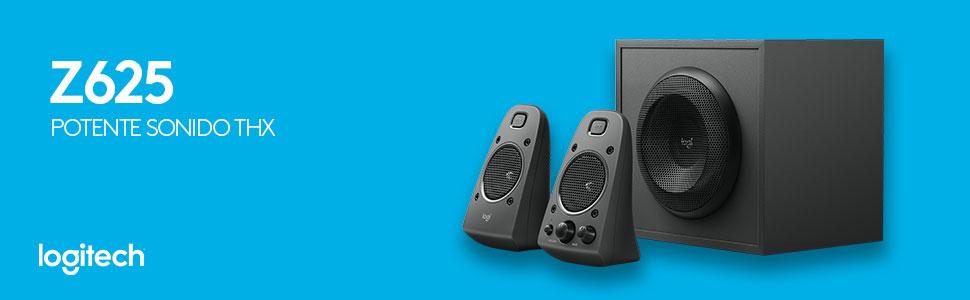 Z625, Bocinas Logitech, Logitech, Bocinas para juegos, Audio envolvente, Bocinas thx