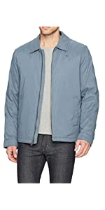 ae571c1ac13 Tommy Hilfiger Men s Micro-Twill Open-Bottom Zip-Front Jacket at ...