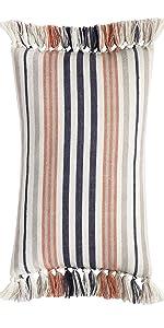 Multi-Color Fringe Pillow