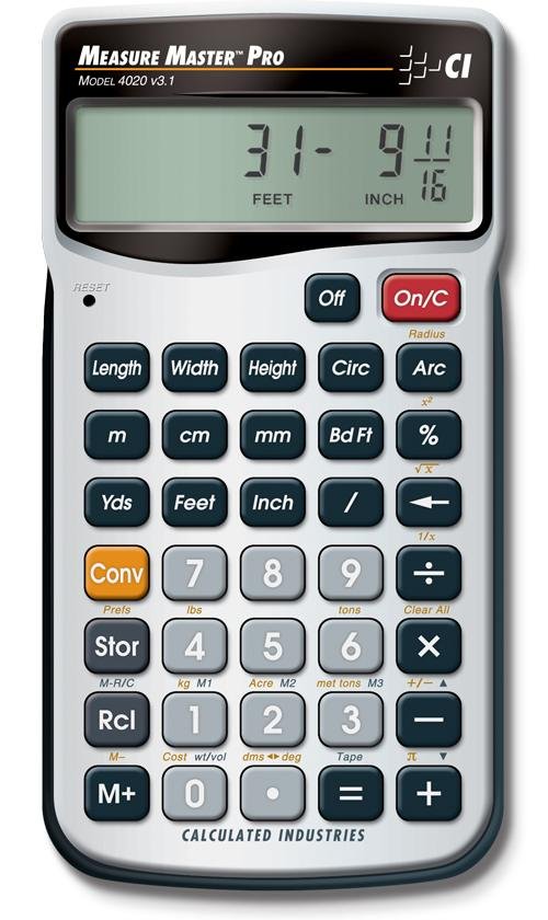 Amazon Com Calculated Industries 4020 Measure Master Pro
