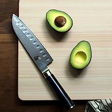 Juego de cuchillos japoneses de cubertería artesanal juego de cocina bloque de cuchillos