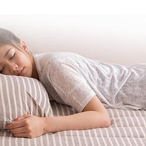 お部屋でくつろぐリラックスウェアのような質感 mofua natural 綿100% 肌になじむ 天竺ニット布団カバーセット