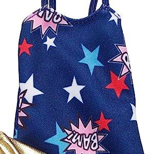 MATTEL BLUE STAR AMERICANA SKIRT BARBIE FASHIONISTA CLOTHES Wonder Woman Fashion