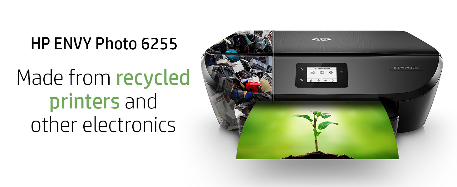 HP ENVY Photo 6255 recycle recycled printers electronics sustainability