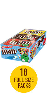 M&M'S Variety Pack Chocolate Candy Singles Size Variety