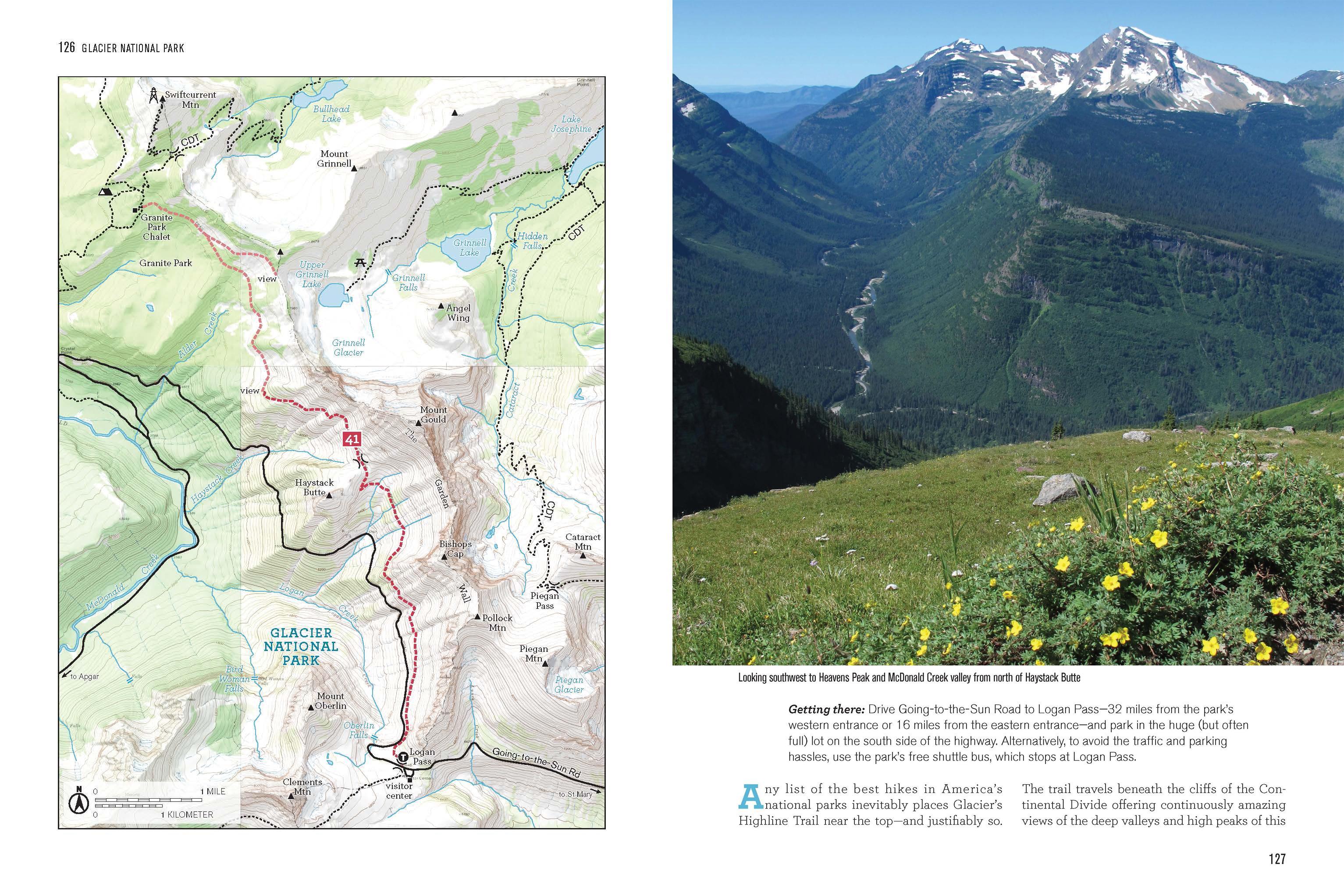 100 Classic Hikes: Montana: Glacier National Park, Western ...